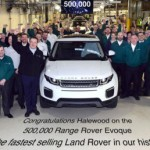 Xe suv cỡ nhỏ Range Rover Evoque tròn 500.000 xe được sản xuất