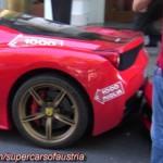 Tài xế khó khăn đỗ siêu xe Ferrari 458 italia đúng vào chuồng
