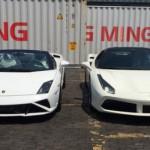 Bộ đôi siêu xe Ferrari và Lamborghini về Việt Nam