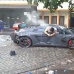 Siêu xe Lamborghini Murcielago bị tai nạn tài xế tử vong tại chỗ
