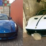Siêu xe Ferrari California T đổi màu sơn từ xanh thành trắng