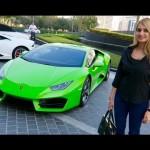 Thanh niên đẹp trai trổ tài lái Lamborghini Huracan cùng người đẹp
