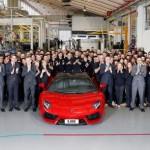 Siêu xe Lamborghini Aventador thứ 5000 trên thế giới