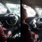 Xôn xao thanh niên lái ô tô bằng 2 chân ở Hà Nội