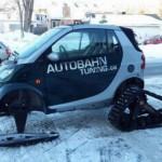 Dân chơi độ xe smart fortwo thành xe trượt tuyết