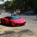 Siêu xe Lamborghini Aventador mui trần về Hà Nội