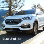 Xe Hyundai SantaFe Sport 2017 được đánh giá an toàn cao nhất