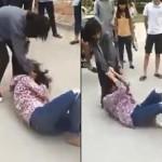 Cô gái đánh nhau khiến bạn trai bị vạ lây