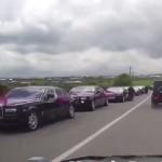 Choáng ngợp đám cưới với trăm xe Rolls royce và Mercedes ở Nga