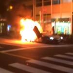 Siêu xe Lamborghini Aventador LP700-4 cháy rụi trên đường phố