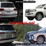 So sánh thiết kế xe sang Lexus LX 570 và Toyota Land Cruiser 2016