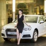 Ngắm Á Hậu Dương Tú Anh làm đại sứ dòng xe Audi A4 2016