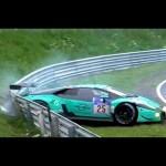 Siêu xe Lamborghini Huracan GT3 vỡ đuôi trên đường đua