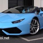 Ngắm siêu xe Lamborghini Huracan Spyder màu xanh hiếm