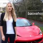 Chân dài xinh đẹp khoe tài lái siêu xe Ferrari 458 mui trần