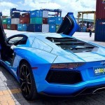 Thêm siêu xe Lamborghini Aventador màu xanh âm thầm về Việt Nam