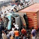 Những pha tai nạn của xe Container cỡ lớn