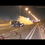 Dân chơi Dubai Drift đua nhau Drift siêu xe giữa đường phố
