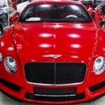 Đánh giá xe siêu sang Bentley Continental GT V8 màu đỏ ở Sài Gòn