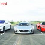 Siêu xe Rimac's Concept One đua với Tesla Model S và LaFerrari