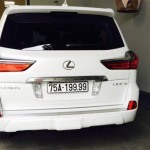 Xe sang Lexus LX570 giá 8 tỷ đồng biển tứ quý 9 ở Huế