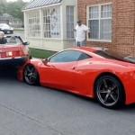 Người phụ nữ lùi xe đè lên đầu siêu xe Ferrari 458 Speciale
