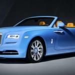 Xe siêu sang Rolls royce Dawn mui trần màu xanh dương đẹp