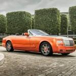 Ngắm xe siêu sang Rolls-Royce Phantom mui trần màu da cam
