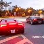 Bộ đôi siêu xe Lamborghini Huracan nẹt pô và tăng tốc ở Sài Gòn