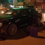 Xe siêu sang Bentley đối đầu Dream bị vỡ đầu xe