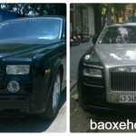 Cặp xe siêu sang Rolls royce xuất hiện trên phố Hà Nội
