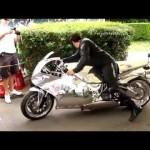 Nghe tiếng nẹt pô siêu xe mô tô độ động cơ máy bay