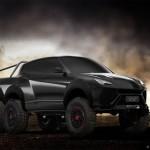 Ảnh tưởng tượng siêu xe Lamborghini Urus bản dẫn động 6 bánh