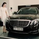 Xe siêu sang Maybach S600 14 tỷ biển tứ quý của Hoa hậu Bùi Thị Hà