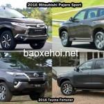 Cặp đôi xe Toyota Fortuner 2016 và Mitsubishi Pajero Sport về Việt Nam