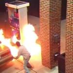 Người đàn ông bị cháy mặt vì hút thuốc lá khi bơm xăng