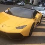Cường đôla được hâm mộ như ngôi sao khi đi siêu xe Lamborghini Huracan