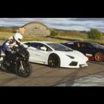 Siêu xe máy BMW S1000RR đua thắng Lamborghini Aventador