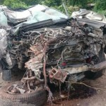 Hai xe sang Lexus GX460 tai nạn ở Quảng Ninh