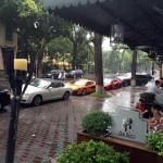 Dàn siêu xe trên đường phố Hà Nội ngày trời mưa