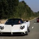 Siêu xe Pagani Zonda F so tiếng pô cùng Lamborghini Aventador SV
