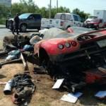 Siêu xe Koenigsegg CCX 44 tỷ bị tai nạn biến thành sắt vụn