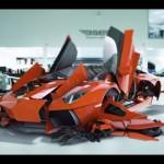 Siêu xe Lamborghini Aventador LP700-4 biến hình thành rô bốt