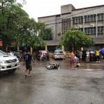 Xe bán tải hilux va chạm xe máy ở Thái Nguyên 1 người bị thương