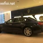 Ngắm xe siêu sang Maserati Quattroporte màu xanh nước biển chính hãng