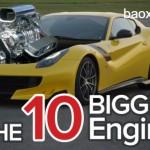 Top 10 siêu xe có dung tích máy lớn nhất bạn có thể mua
