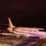 Máy bay 15 triệu bảng của Ronaldo bị tai nạn