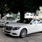 Cặp xe siêu sang Maybach S600 và Mercedes S500 bạch mã ở Lào Cai