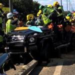 Những vụ tai nạn xảy ra với xe SUV Mercedes G class