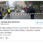 8 người bị thương và 1 người chết do bị xe đâm ở giải đua Rally Legend 2016